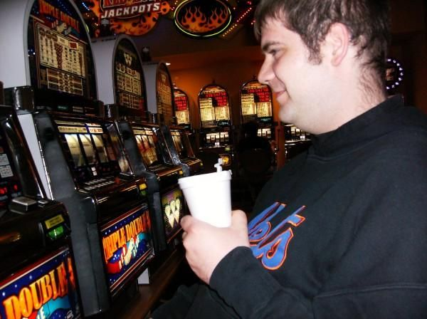 Adam at a Slot Machine