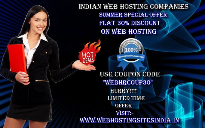 Hot! 30% discount for web hosting. For other details please feel free to visit our site@ http://www.webhostingsitesindia.in/