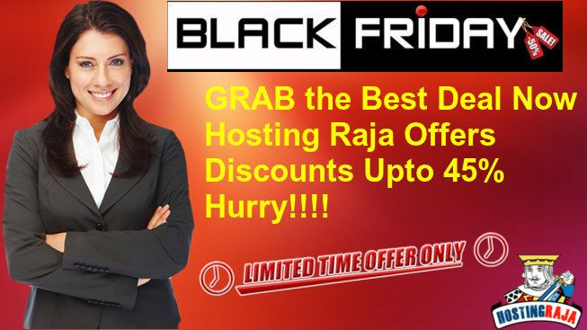 Black Friday Webhosting Deals. Hosting Raja is providing a huge promotional offer for web hosting to celebrate Black friday www.webhostingsindia.in