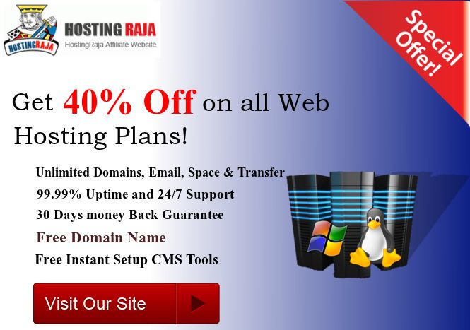 Great offers for you! WebHostingsIndia is giving a discount of 40% on all web hosting packages. Limited Time Only.@ http://www.webhostingsindia.in